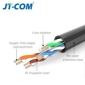 Image 3 - Gigabit cat6 ethernet cabo de rede rj45 cabo redondo cabo plano trançado par cabo de remendo de rede para computador portátil roteador