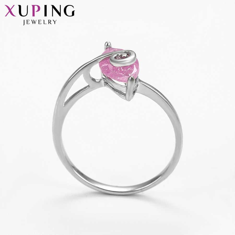 Xuping Fashion Elegan Perhiasan Cincin Tembaga Lingkungan Es Batu Perhiasan untuk Wanita Hari Natal Hadiah S77, 7-15187