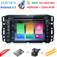 IPS HD Android 8.0 Car DVD Player For GMC Sierra Savana Sonoma Acadia Yukon Envoy Canyon Stereo Radio Tablet PC support DTV DAB+