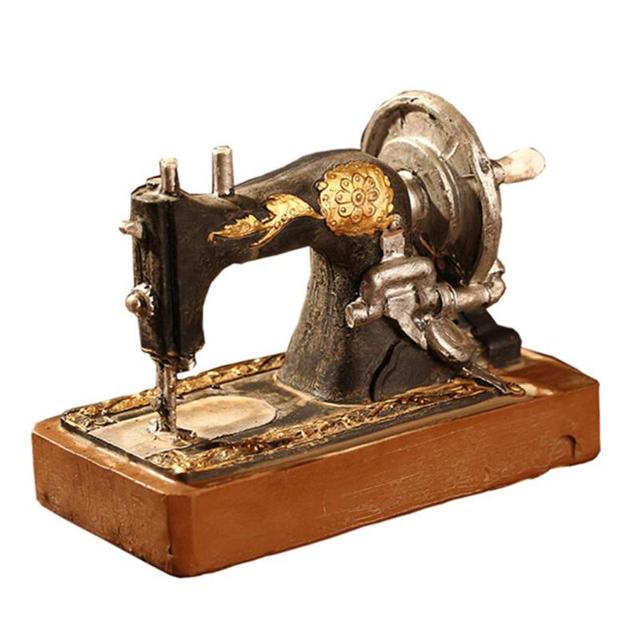 Old-fashioned Sewing Machines Ornament Miniatures Study Room Window Decor Sewing Machine Miniature Home Decor Gift Photo Props