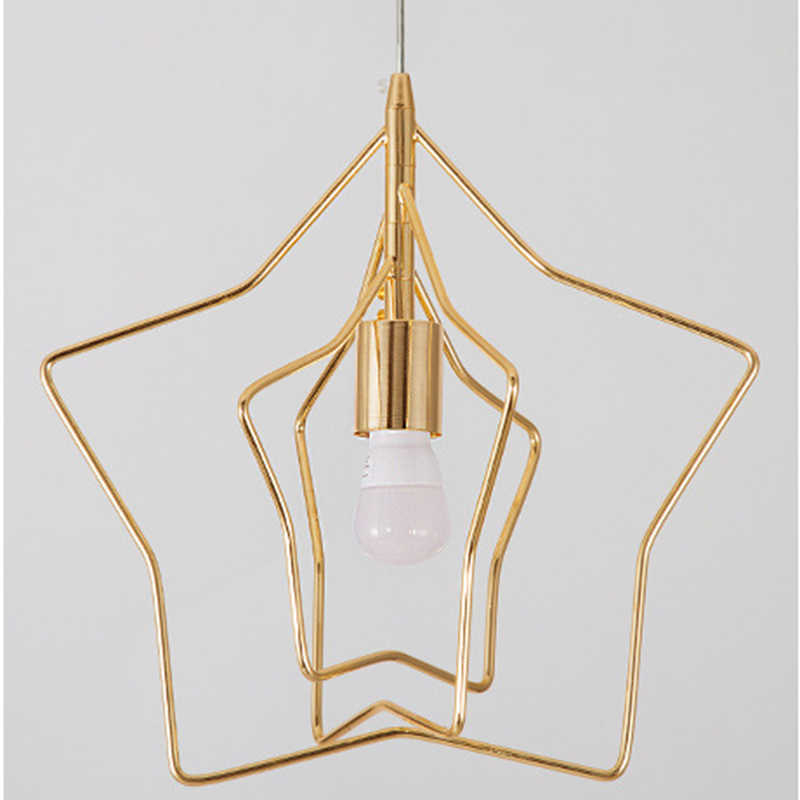 Nordic Творческий Звезда подвесной светильник светодиодный E27 личность Современная Подвесная лампа в простом стиле для гостиной, спальни, детской комнаты Ресторан