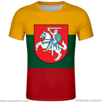 LITHUANIA t shirt diy free custom country name number ltu t shirt nation flag lt lietuva lietuvos lithuanian print photo clothes