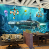 Custom 3D Photo Wallpaper Submarine Underwater World Wall Decor Mural Living Room Bedroom Children Room 3D Wall Murals Wallpaper