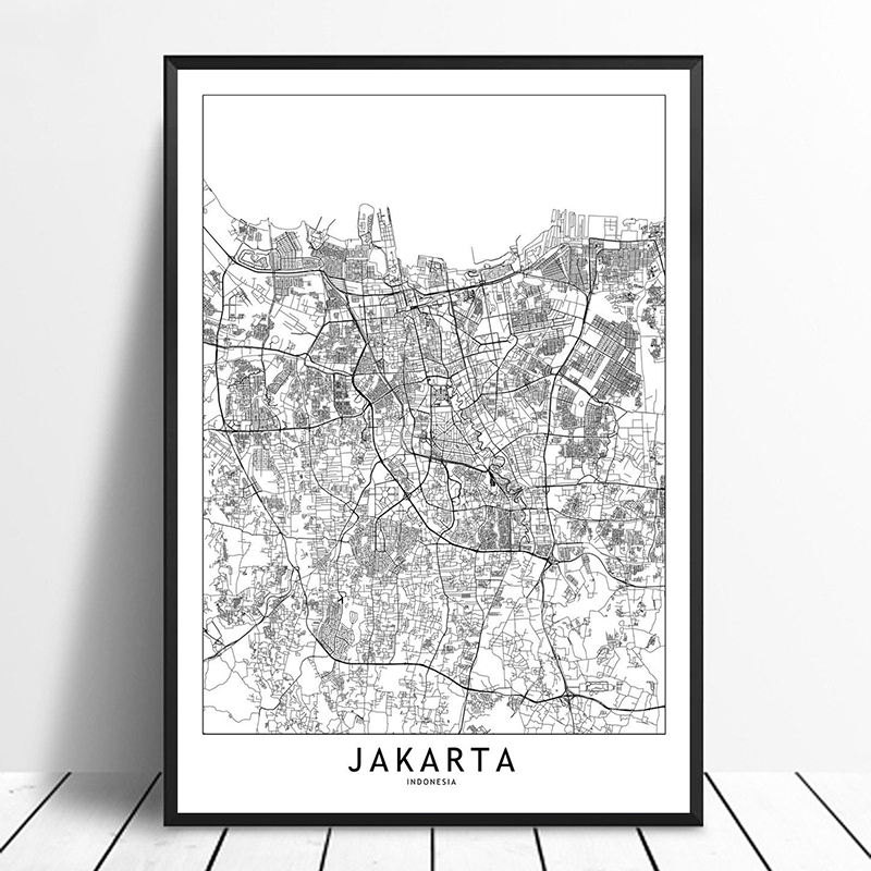 US $11.98 |Jakarta Black White Custom World City Map Posters Prints on recycling posters, planning posters, city design posters, city mural posters, radio posters, golf posters, vintage city posters, muenchen city posters, train posters, koln city posters, statistics posters, library posters, water posters, clothing posters, vision posters, city neighborhood posters, city travel posters, culture posters, home posters,