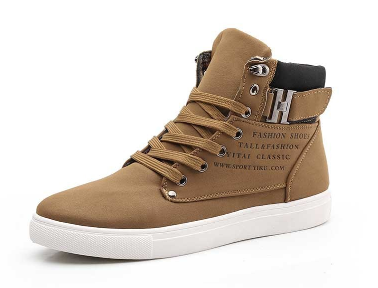 2018 Hot Men Shoes Fashion Autumn Winter Men Snow Boots Leather Footwear For Man New High Top Canvas Casual Shoes Men sneakers 2016 new men casual shoes fashion white black high top spring autumn winter pu men s classic leather shoes for men