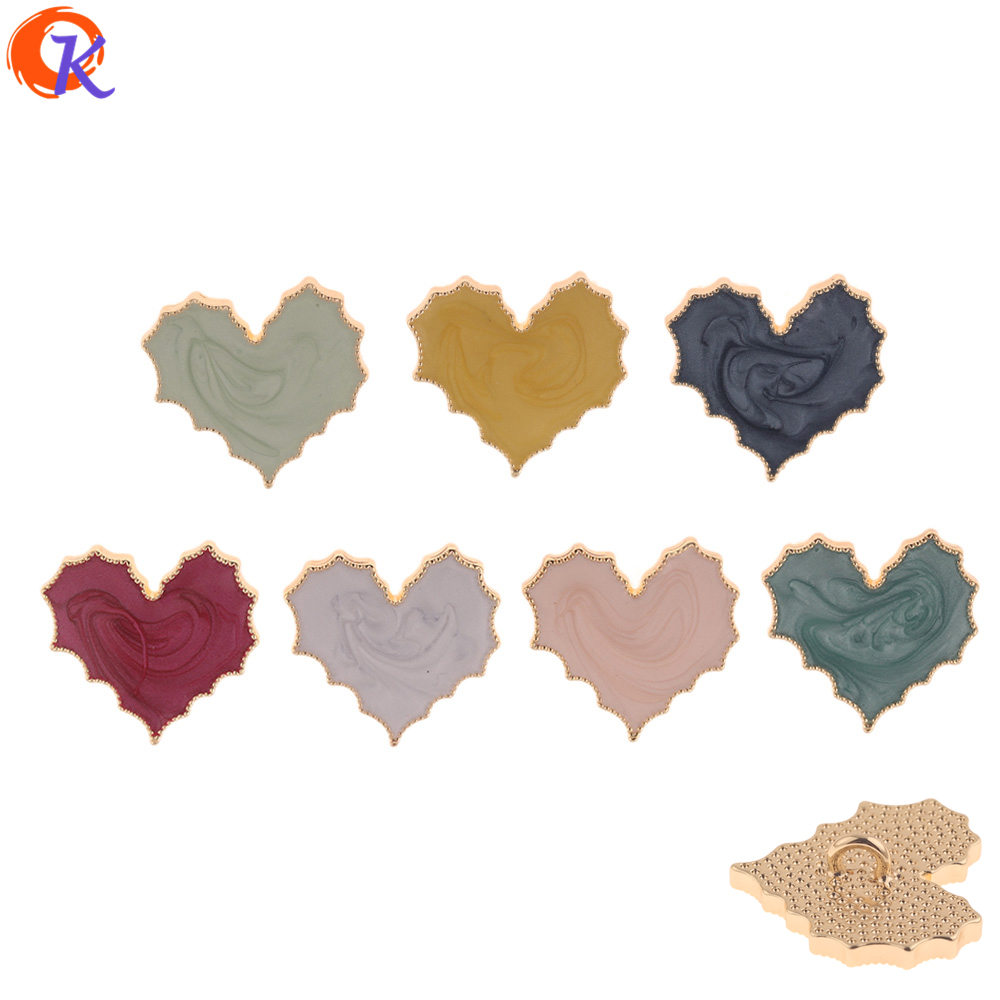Cordial Design 30Pcs 27*29MM Jewelry Making/DIY Hair Accessories/Heart Shape/Paint Effect/Hand Made/Jewelry Findings Component(China)