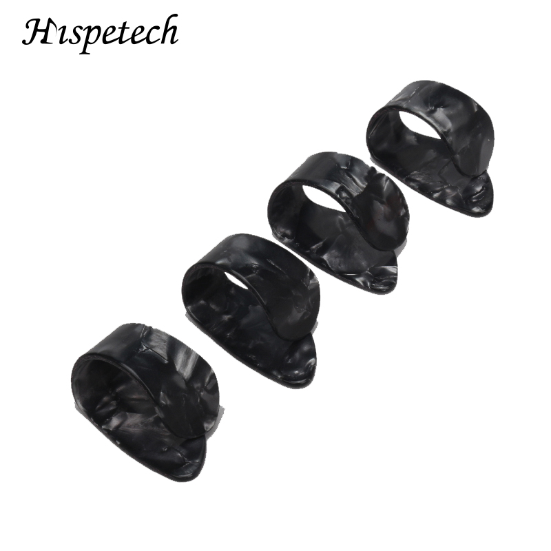 Hispetech Ukulele Guitar Musical Stringed Instrument Accessories Thumb Pick Guitar Finger Cover Thumb Index Guitar Part 4PCS
