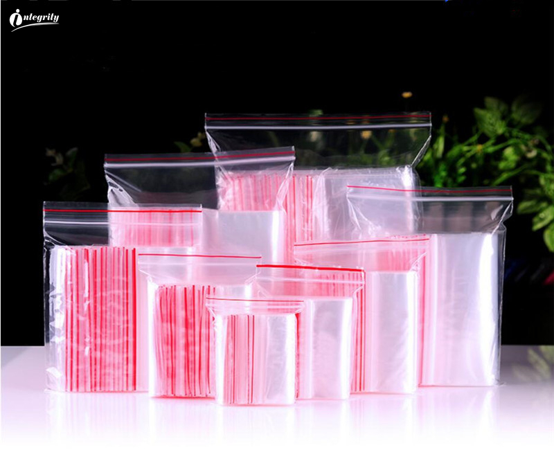 INTEGRITY1000pcs Small Size Clear Zip Lock Plastic Packaging Bag Zipper Transparent Self Sealing Gifts/Cookie/crafts Storage Bag