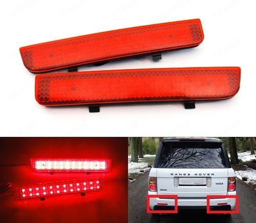 Red Bumper Reflector LED Tail Brake Stop Light L322 Range Rover LR2 Freelander 2 For Land Rover
