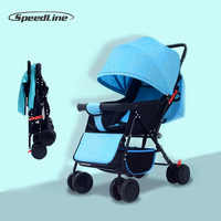 Speedline 2018 Baby Strollers Ultra-Lightweight Folding Sit Or Lie High Landscape Umbrella Baby Trolley Wagen Car