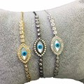 2016 Evil Eye Shell Pearl Bracelet For Best Friend Christmas Gifts With AAA+ CZ Diamond Bracelete pulseras WB032