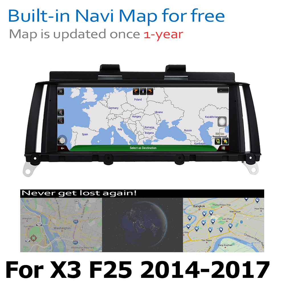 Android8 0 up Car GPS DVD Multimedia Player For BMW X3 F25 2014 2017 NBT Original Style Touch Screen Google System in Car Multimedia Player from Automobiles Motorcycles