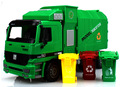 BOHS Big Size Jumbo Children's Large  Man Side Loading Garbage Truck Can Be Lifted With 3 Rubbish  Bin Toy Car Wholesale