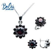 Bolaijewelry, натуральный кулон, ожерелье или кольцо или серьги, ювелирный набор из серебра 925 пробы для женщин, элегантный свадебный подарок