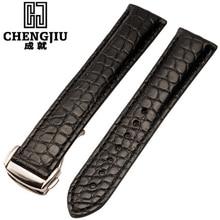 Top reloj de la marca de la correa para omega/speedmaster/seamaster relojes de cuero genuino venda de reloj para los hombres reloj de la correa pulseras para el varón