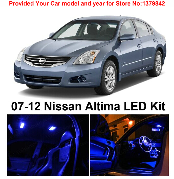 Free Shipping 10Pcs/Lot car-styling Premium Package Kit LED Interior Lights For Nissan Altima 2007-2012