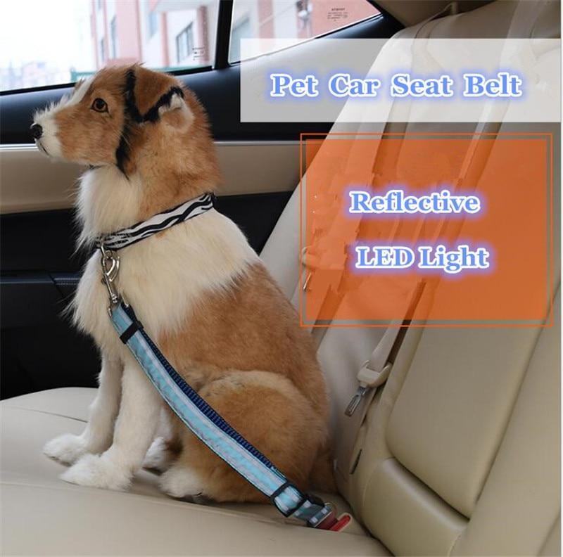 Pet Seat Belt >> B42 Reflective Led Pet Seat Belt Nylon Dog Traction Rope Keep Pet S Safety In Car Dog Car Seat Belts