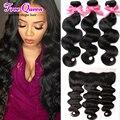 Lace Frontal Closure with Bundles Brazilian Virgin Hair Ear to Ear Body Wave Brazillian Hair Brazilian Virgin hair with Closure