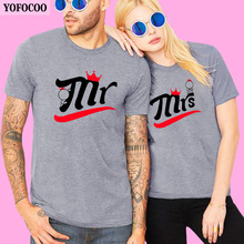 YOFOCOO Lovers Couple Summer Fashion Funny Women T-Shirts Printing Men Short Sleeve T-Shirt Boyfriend Clothing