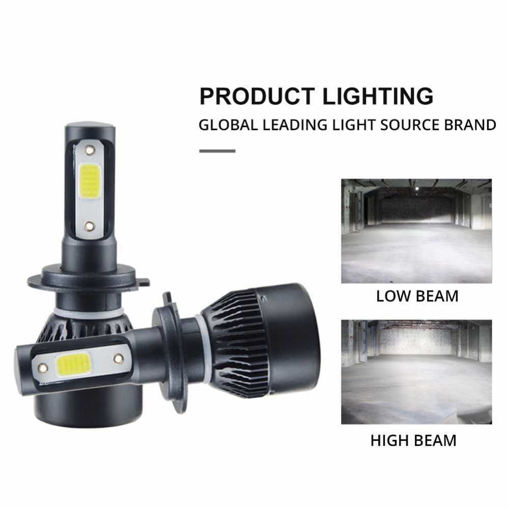 Aceersun H7 H4 LED Bulb Car Headllight H4 H1 H11 9005 72W mini cob chip 12V 24V Auto Headlamp Lamps 8000LM 6500K 4300K Fog Light