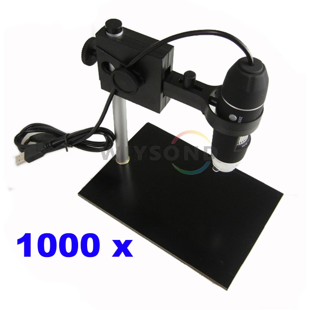 TL021 Portable Bench Portable USB Magnifier Camera 8 Led Digital 1000X 2 MP Digital Microscope Endoscope with Base Stand 1x 500x usb portable microscope otg function 8led digital zoom magnifier with holder video camera magnification 0 3cm focus
