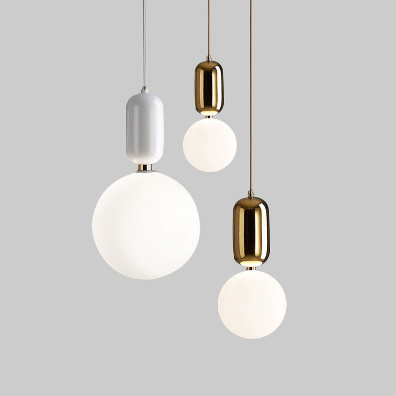 Creative Glass Ball Pendant Light Arts Cafe Bar Restaurant Bedroom Home Dining Room Nordic Pendant Lamps hanging lights [mingben] earth pendant light e27 socket creative arts cafe bar restaurant bedroom home dining room nordic pendant lamps 90 260v