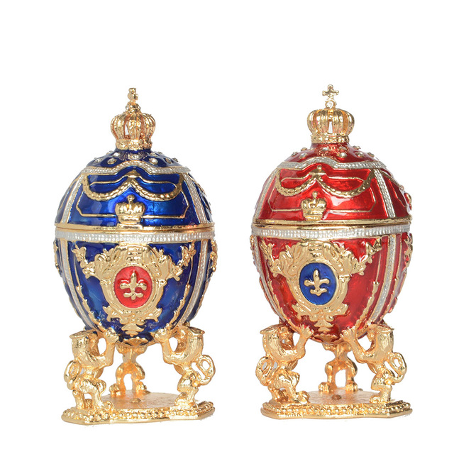 Aliexpress buy new arrival russian faberge egg w lion new arrival russian faberge egg w lion jewelry box easter egg bejeweled trinket box metal gift negle Images