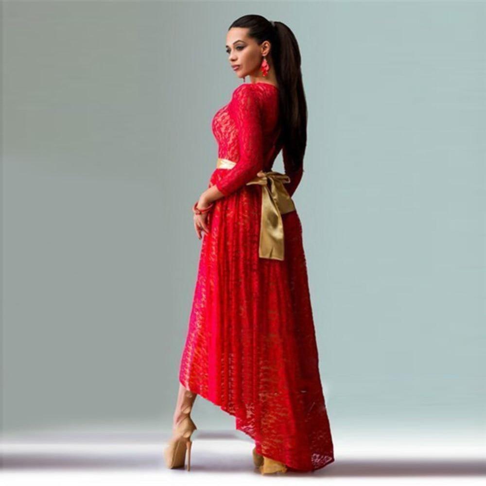 new spring women elegant maxi long dress o neck casual elegant lace ...