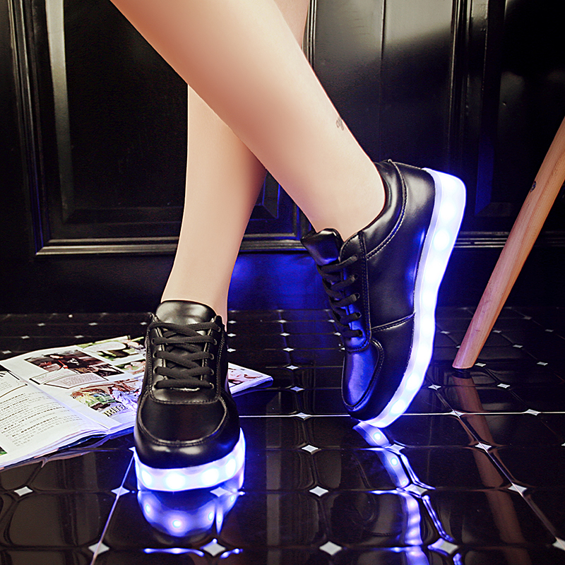 Led Sneakers Classic Strap Kids 10