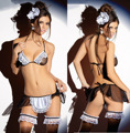 Free Shipping New Cosplay Maid Clothing Sexy Lingerie Women Costumes Fascinate Sex Products Toy Sexy Underwear Role Play