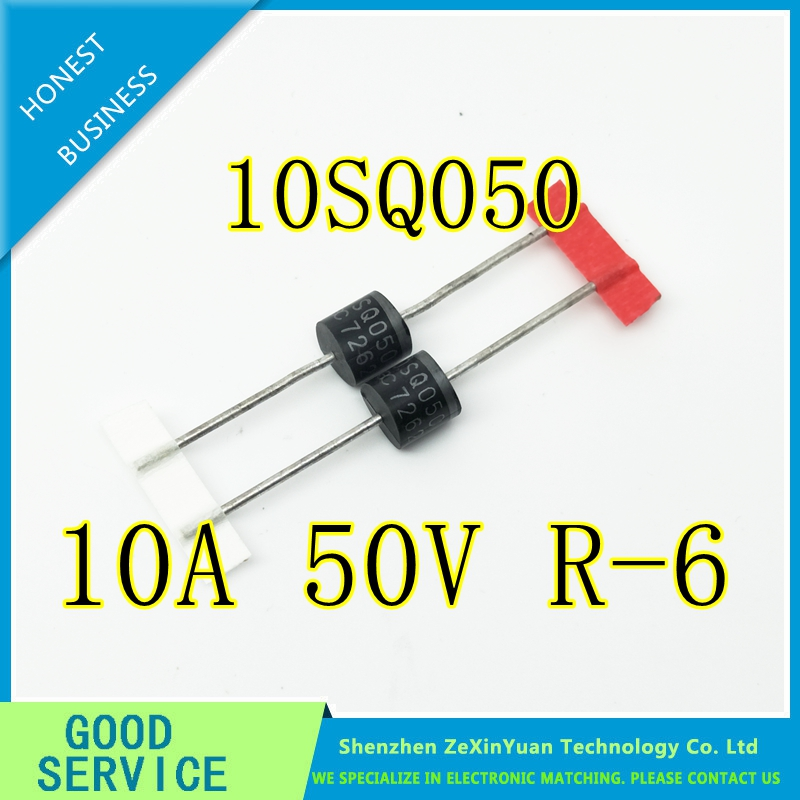 20PCS 10SQ050 10A 50V R-6 NEW