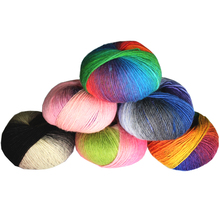 10 Pcs / Lot luxury quality 100% wool yarns fancy iceland thick Hand knitting for yarn colorful knit sweater knitwear