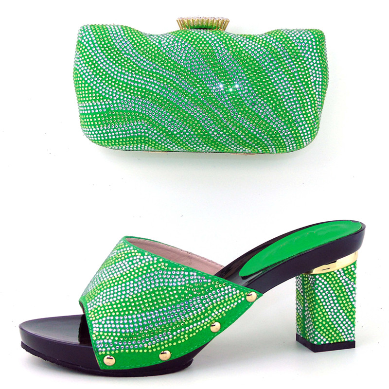 ФОТО Fashion Italian Sandal Shoe And Bag Set African Wedding Shoe High Quality Italy Women Shoe And Bag To Match For Party THS17-01