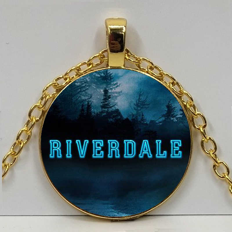 Movie Riverdale Necklace Mysteries of Riverdale Pendant Jewelry Glass Necklace Charm Pendant Men Women Fashion Jewelry