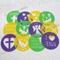 12 disegni stencil bambini modelli di disegno di plastica christian zucca pittura schede fai da te del bambino bambini giocattoli educativi caldi 204mm