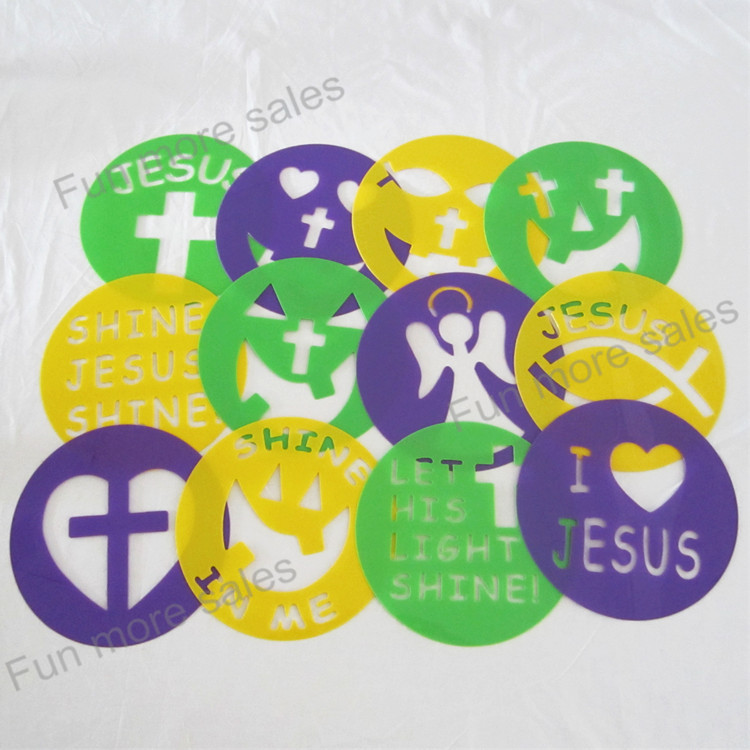 12designs stencils kids drawing templates plastic christian pumpkin painting boards diy baby children hot educational toys - Kids Drawing Stencils