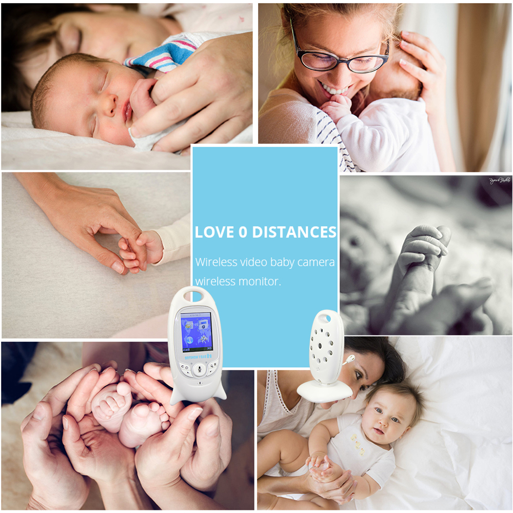2 inch Wireless Baby Monitor With Color Video Security Camera To Record your Baby At Home 1