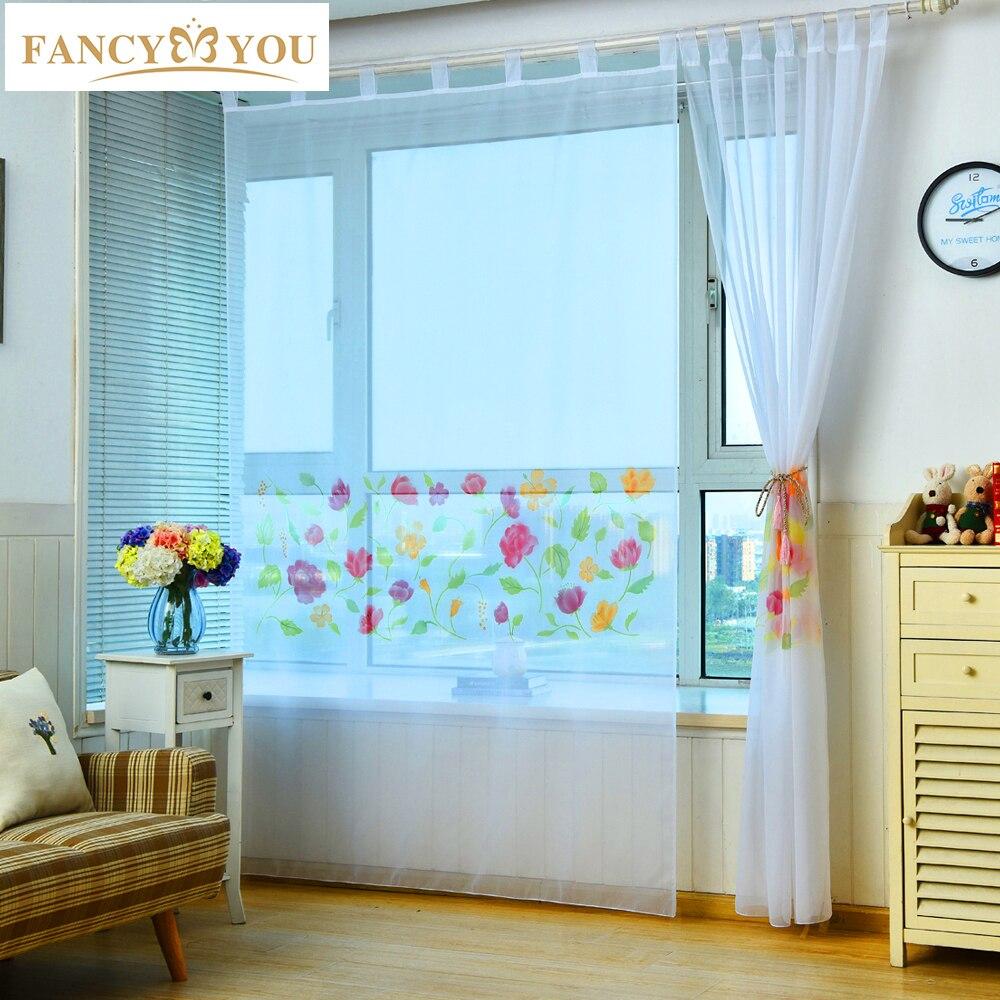 Online Get Cheap Sunflower Kitchen Curtains -Aliexpress