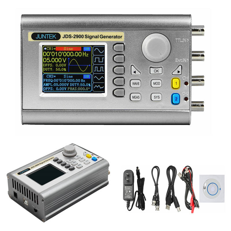 JDS2900 60M 60MHZ Signal Generator Digital Control Dual channel DDS Function Signal Generator frequency meter Arbitrary