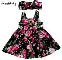2019 jesień z długim rękawem dla dziewczynek sukienka dla dziewczynki z kwiecistym dołem suknia ślubna elegancka suknia pokazowa Sundress odzież w Suknie od Matka i dzieci na