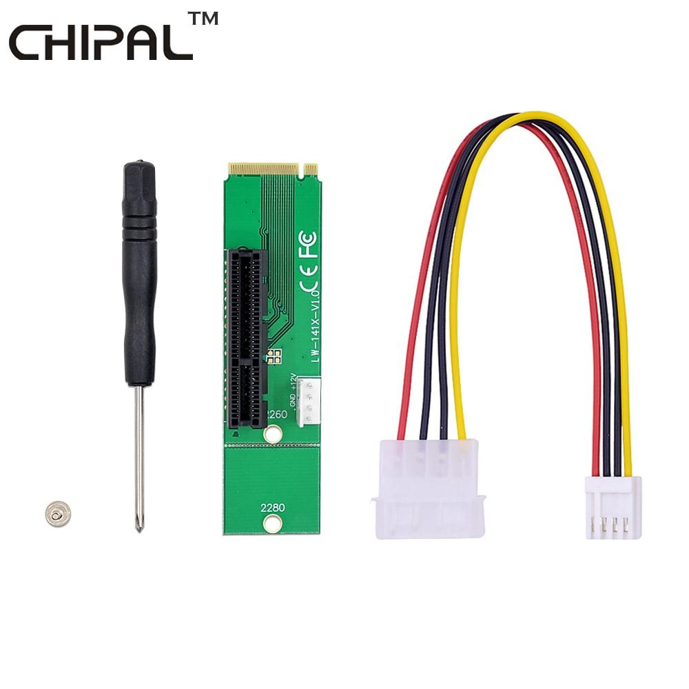 CHIPAL PCI-E 4X 1X к NGFF M.2 передача карты M2 M ключ к PCIe X4 X1 адаптер для PCIe 1X к 16X Riser карта для BTC LTC ETH Mining