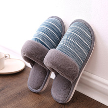 Winter ladies cotton slippers plush warm slippers indoor home leisure light non-slip slippers couple models striped slippers senza fretta winter warn plush slippers indoor butterfly cotton soft bottom slippers couple non slip warm slippers women shoes