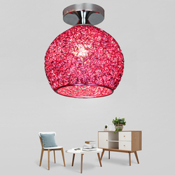 Nordic Multicolor okrągłe aluminiowe oświetlenie sufitowe nowoczesne E27 LED lampa sufitowa do salonu sypialnia ganek korytarz korytarz Hotel