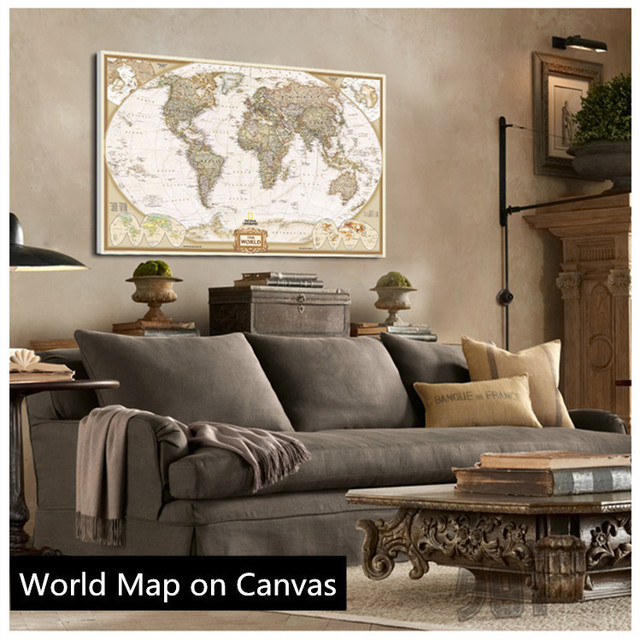 Aliexpress buy hot sale vintage english world map painting hot sale vintage english world map painting on canvas wall art canvas prints painting gumiabroncs Gallery