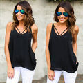 Women Ladies Summer Sexy Vest Lace V-neck Sleeveless Shirts Casual Tank Tops T-Shirt