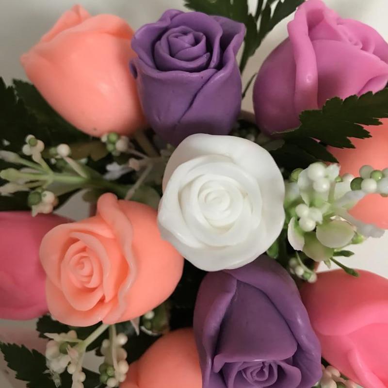 Rose Flower Silicone Mold DIY Gypsum Plaster Silicone Mold Silicone Candle Molds Handmade Soap Mold
