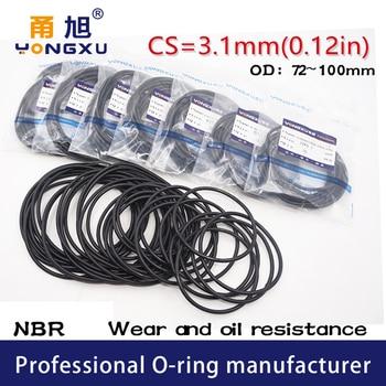 5PCS/lot Black NBR Sealing O-Ring CS3.1mm Thickness 72/75/80/85/90/95/100*3.1mm O Ring Seal Rubber Gasket Rings Washer