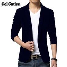 Новая брендовая одежда Для мужчин Пиджаки для женщин модные хлопковый костюм пиджак Slim Fit мужской пиджак Повседневное одноцветное бархат мужской Костюмы куртка дизайн