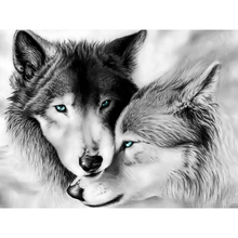 Full Square/Round Drill 5D DIY Diamond Painting wolf couple 3D Embroidery Cross Stitch Mosaic Rhinestone Home Decor Gift 5d diy diamond painting full square drill wolf 3d embroidery cross stitch mosaic home y1281
