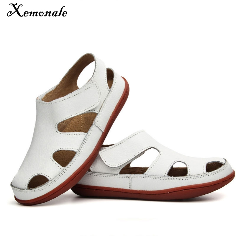 Xemonale2018 New Style Of Fashion Casual Boys Girls Sandal For Baby Shoes Anti-Slip Children Sandals Genuine Leather